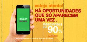 stock-off app cupão desconto banner