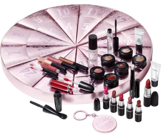Produtos maquilhagem cosmética calendário advento MAC