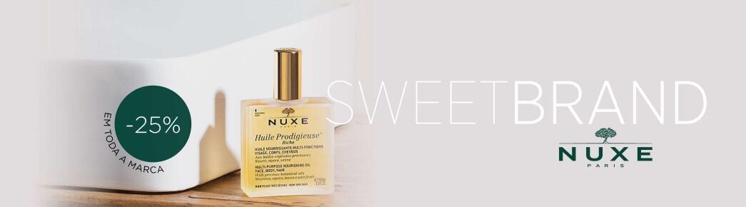 marca nuxe desconto sweet care banner